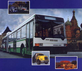 Caterpillar 3306 powered dual-fuel buses in Moscow